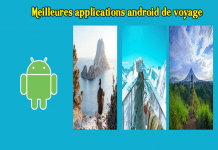 Meilleures applications android de voyage