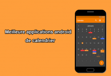 applications android de calendrier