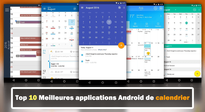 Meilleur Calendrier Android.Top 10 Meilleures Applications Android De Calendrier En 2019