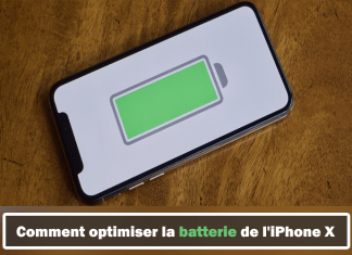 optimiser la batterie de l'iPhone X