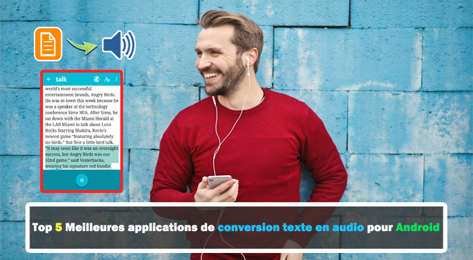 applications de conversion texte en audio pour Android
